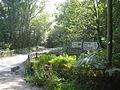 Road sign at a bridge over the Hazon Burn - geograph.org.uk - 1481487.jpg