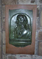 Robert Fergusson plaque inside St. Giles High Kirk