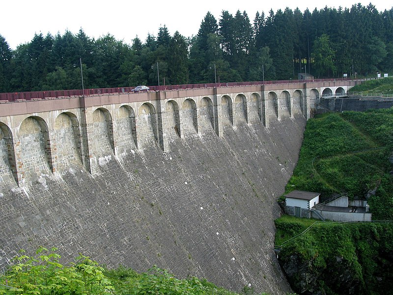 Robertville (Belgium), the dam on the Warche river.
