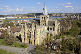 Rochester Cathedral - View over Rochester Cathedral from Rochester Castle