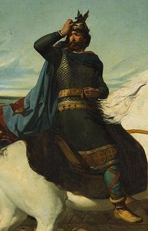 Roderick - Romantic painting of Visigothic king Roderic (Marcelino de Unceta)