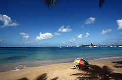 Skyline of Rodney Bay