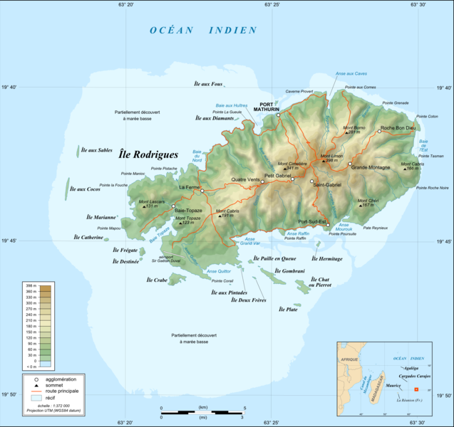 Fichier:Rodrigues Island topographic map-fr.png