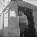 Rohwer Relocation Center, McGehee, Arkansas. Larry Sato, a former southern California dragline oper . . . - NARA - 539367.tif