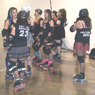 Calgary Roller Derby Association - Image: Roller Derby Girls 1