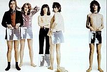 I Rolling Stones in una foto promozionale per l'album Sticky Fingers del 1971