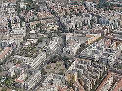 Panoramica aerea del quartiere Don Bosco