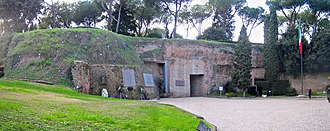 Ardeatine massacre - Entry to caves in the Fosse Ardeatine Monument
