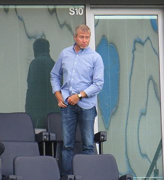 Roman Abramovich - Roman Abramovich watches his team Chelsea play against Leicester City, August 2014