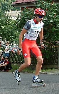 Ronny Heer Swiss Nordic combined skier