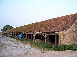 English: Rope shed at the Parrett Works Long e...