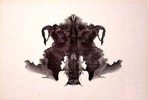 the fourth blot of the Rorschach inkblot test