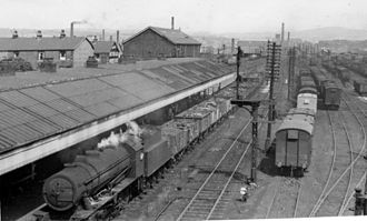Rose Grove railway station - The station as it was in 1951