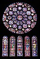 Rose Window and other windows at Cathedral of Our Lady of Chartres.jpg
