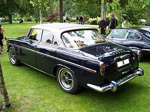 Rover P5 - The  coupé version featured a lowered roof line, shown is a P5B  coupé