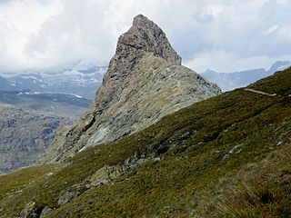 Riffelhorn mountain in the Swiss section of the Pennine Alps