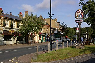 Chislehurst district in South East London, England