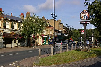 Chislehurst - Image: Royal Parade and Chislehurst village sign geograph.org.uk 1715929