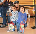 Royals Alfredo Escalera during a charity event with kids.jpg