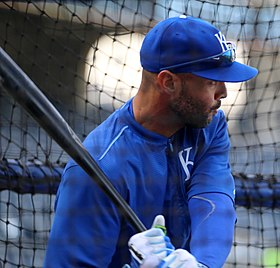 Royals take batting practice - Alex Ríos (22132909802).jpg