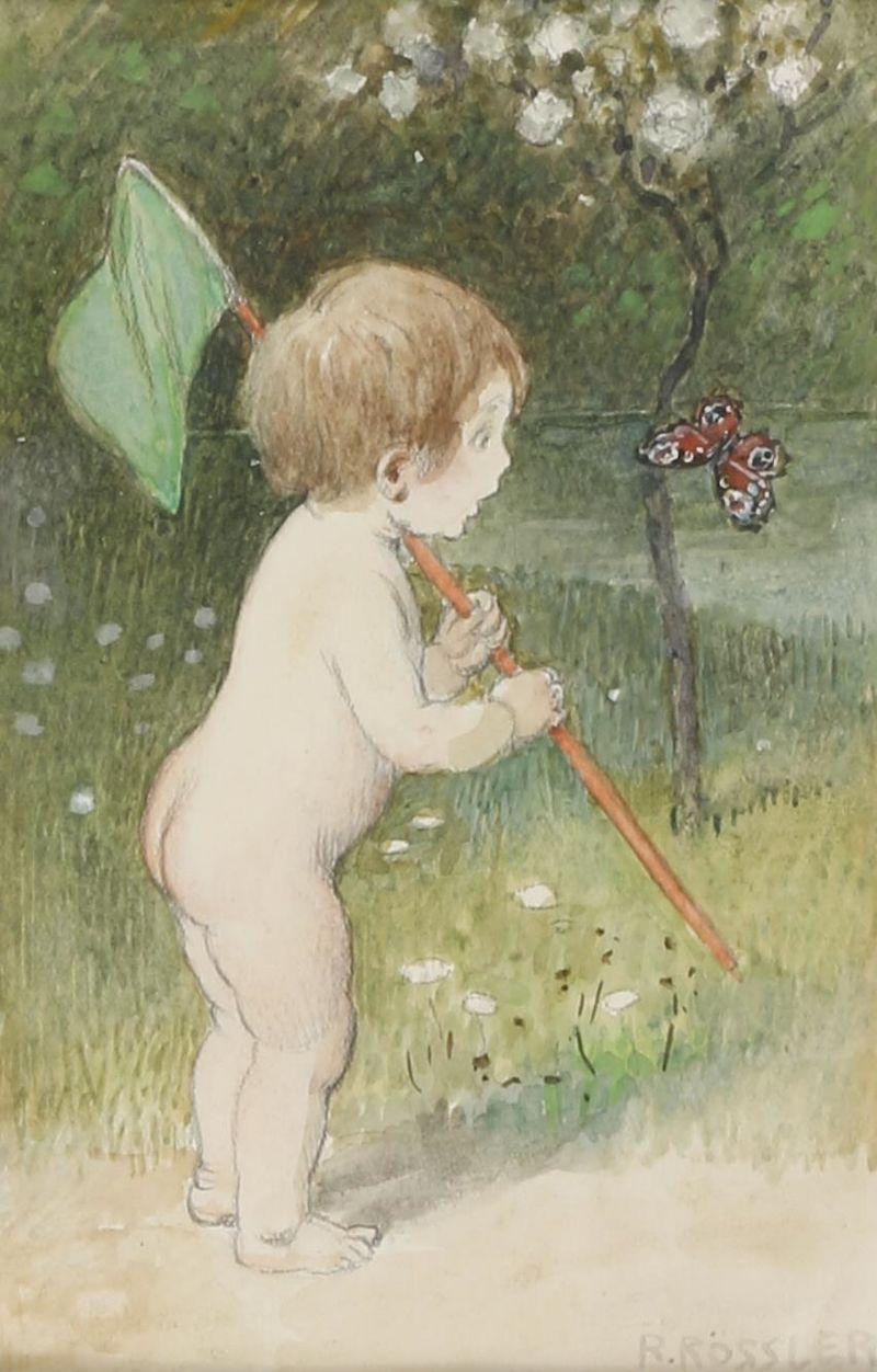 Рудольф Рёсслер Kind beim Schmetterlingsfangen.jpg