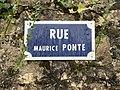 Rue Maurice Ponte (Belley), panneau.jpg