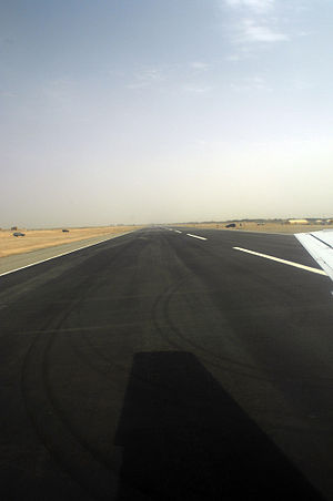 Bost Airport - Image: Runway at Bost Airfield in 2009