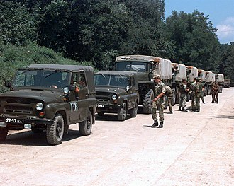 Implementation Force - Image: Russian Airborne Troops in Bosnia