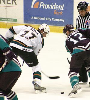 Ryan Kesler - Kesler playing for Manitoba in the AHL in 2004