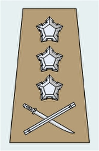South African military ranks - Image: SA Army Rank Structure Pre 1994Gen