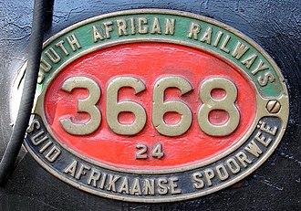 South African Class 24 2-8-4 - Image: SAR Class 24 3668 (2 8 4) ID
