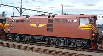 South African Class 5E1, Series 4 - No. E905 at Harrismith, Free State, 6 November 2003