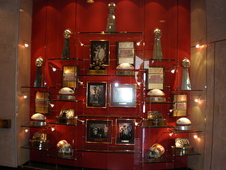 San Francisco 49ers - 49ers wall of trophies at the Marie P. DeBartolo Sports Center