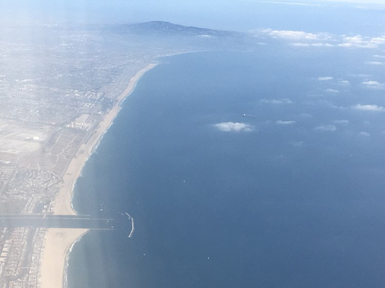 Santa Monica Bay, aerial view