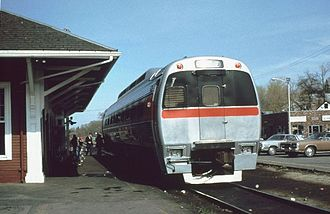 Budd SPV-2000 - An SPV-2000 demonstrator being tested on the MBTA in 1978