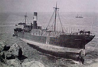 Cory Environmental - SS William Cory aground at Pendeen in 1910