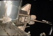 STS-132 docks with ISS