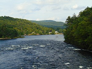 Sacandaga River - The Sacandaga River when it flows into the Hudson River