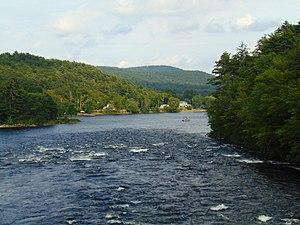 Sacandaga River - The Sacandaga River when it flows into the Hudson River