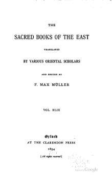 Sacred Books of the East - Volume 49.djvu