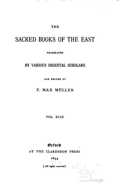 File:Sacred Books of the East - Volume 49.djvu