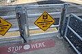 Safety gate at pedestrian crossing of MAX Light Rail tracks near Orenco station.jpg