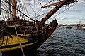 Sail Amsterdam - De Ruyterkade - View North on Frigate Shtandart 1703 - Replica 1999 the first ship of Czar Peter I's Baltic Fleet I.jpg