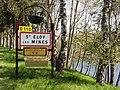 Saint-Éloy-les-Mines (Puy-de-Dôme) city limit sign.JPG