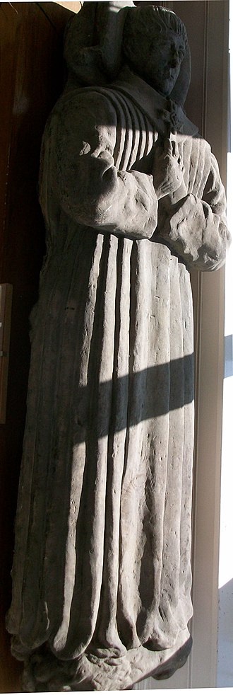 Saint Fergus - An effigy of Saint Fergus, carved in the 15th Century.