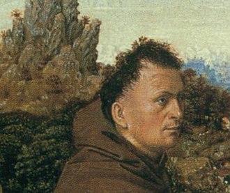 Saint Francis Receiving the Stigmata (van Eyck) - From the Philadelphia version