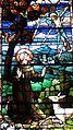 Saint Julie Billiart Catholic Church (Hamilton, Ohio) - stained glass, Saint Francis of Assisi receiving the stigmata, detail.jpg