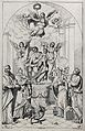 Saint Margaret, Saint Catherine, and other saints. Etching b Wellcome V0032365.jpg