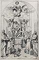 Saint Margaret, Saint Catherine, and other saints. Etching b Wellcome V0032365.jpg