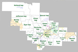 Saline County, Arkansas - Townships in Saline County, Arkansas as of 2010